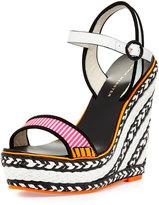 Webster Sophia Lucita Striped Wedge Sandal, Pink