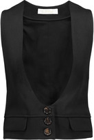 Chloé Wool-twill vest