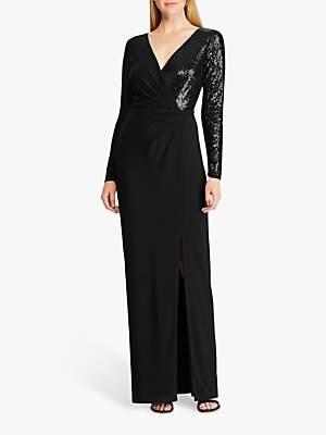 Ralph Lauren Ralph Bellamy Sequin Evening Dress, Black