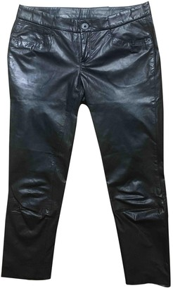 Theyskens' Theory Black Leather Trousers