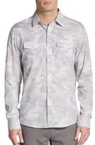 Michael Kors Camo-Print Cotton Sportshirt