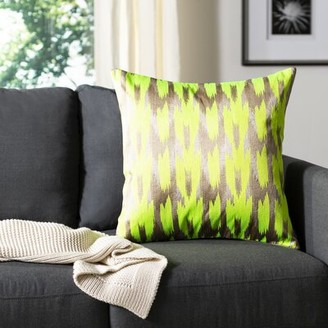 Safavieh Boho Chic Throw Pillow Color: Neon Citrus