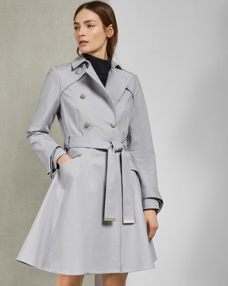Ted Baker Knot Cuff Detail Cotton Trench Coat