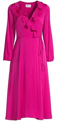Milly Emalee Silk-Blend Ruffle Dress