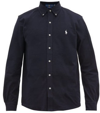 Polo Ralph Lauren Logo-embroidered Cotton-pique Shirt - Mens - Navy