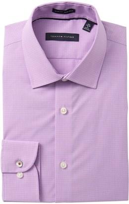 Tommy Hilfiger Mini Check Slim Fit Dress Shirt