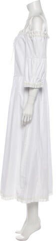 Thumbnail for your product : Vilshenko Scoop Neck Midi Length Dress w/ Tags White