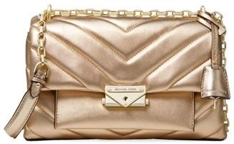 MICHAEL Michael Kors Medium Cece Quilted Metallic Leather Shoulder Bag