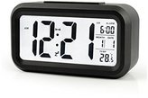 "BOYON Alarm Clock, Smart Desk,Travel,Wake Up Clock, Display Time, Date, Temperature, Battery Operated,Light Sensor 5.3"" Best for Office,Kids,Students"
