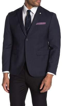 Original Penguin Slim Fit Blue Check Two Button Wool Blend Suit Separates Jacket