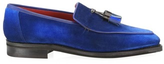 Corthay Dover Tassel Pullman Suede Loafers