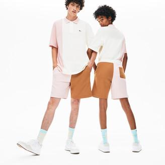 Lacoste x GOLF le FLEUR Color-Blocked Fleece Shorts
