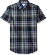 Mens Navy Button Down Short Sleeve Shirts - ShopStyle