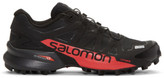 Salomon Black and Red S-lab Speedcross Sneakers