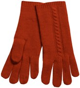 "Portolano 10"" Cashmere Gloves - Cable-Knit Detail (For Women)"