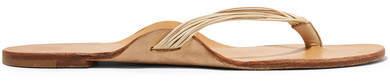 The Row Casablanca Leather Sandals - Neutral