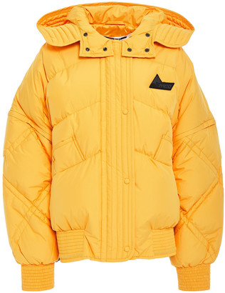 McQ Quilted Shell Down Hooded Jacket
