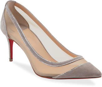 Christian Louboutin Galativi Strass Red Sole Pumps