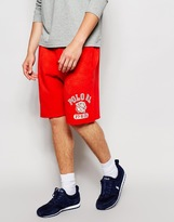 Polo Ralph Lauren Sweat Shorts With Tiger Print - Red