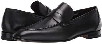 Santoni Gannon Loafer (Black) Men's Shoes