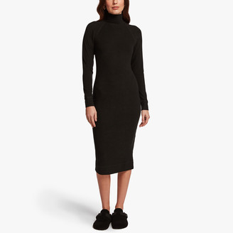 James Perse Micro Sueded Turtleneck Dress