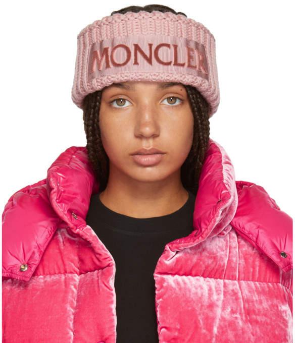 Moncler Pink Logo Headband