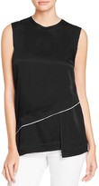 DKNY Asymmetric Layered Blouse