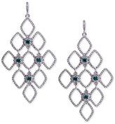 Lauren Ralph Lauren Silver-Tone Pavé Honeycomb Chandelier Earrings