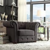 Radcliffe HomeSullivan Dark Grey Linen Arm Chair