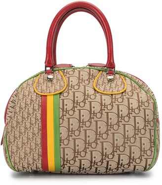 Christian Dior 2004 pre-owned Trotter Rasta bowling bag