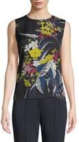 Diane von Furstenberg Floral-Print Silk Shell Top