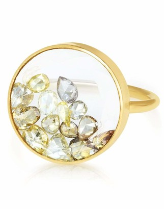 Moritz Glik Round Yellow Diamond Shaker Ring