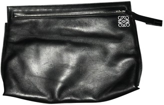 Loewe T Pouch Black Leather Clutch bags