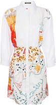 Roberto Cavalli printed embroidered shirt dress