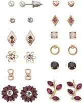 Mudd Infinity, Kite, Flower, Leaf & Heart Stud Earring Set