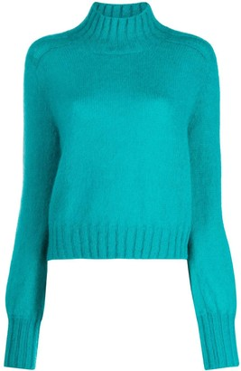 Alberta Ferretti Turtleneck Knit Jumper