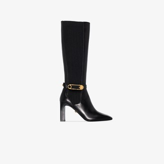 Versace 90mm Knee-High Safety Pin Boots