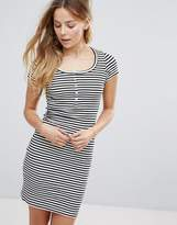 Brave Soul Stripe Body-Conscious Dress