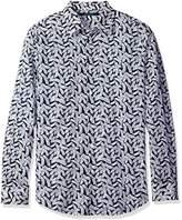 Perry Ellis Men's Leaf Print Design Shirt