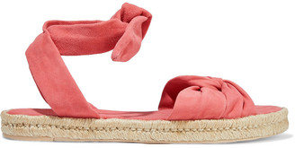 Zimmermann Twisted Suede Espadrille Sandals