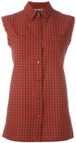 Diesel sleeveless plaid shirt - women - Cotton - L