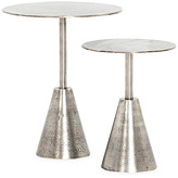 One Kings Lane Set of 2 Frisco Side Tables - Antique Nickel