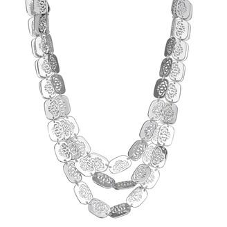Dana Buchman Silver Tone Lace Multi-Row Necklace