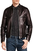 The Kooples Lamb Leather Racing Jacket