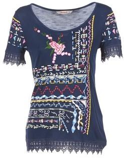 Desigual RICOLU women's T shirt in Blue