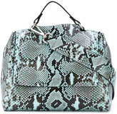 Orciani snake print shoulder bag - women - Cotton/Leather - One Size