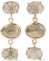 Melissa Joy Manning 14-Karat Gold, Labradorite And Pyrite Earrings