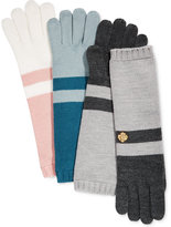 Anne Klein Colorblock Long Knit Gloves