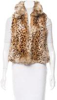 Adrienne Landau Cheetah Print Fox Vest
