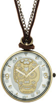 JCPenney Decree Skeleton Pendant Watch Necklace